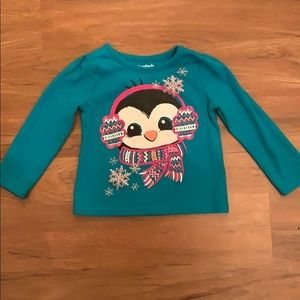 Garanimals Long Sleeve Penguin Blue/Green Top